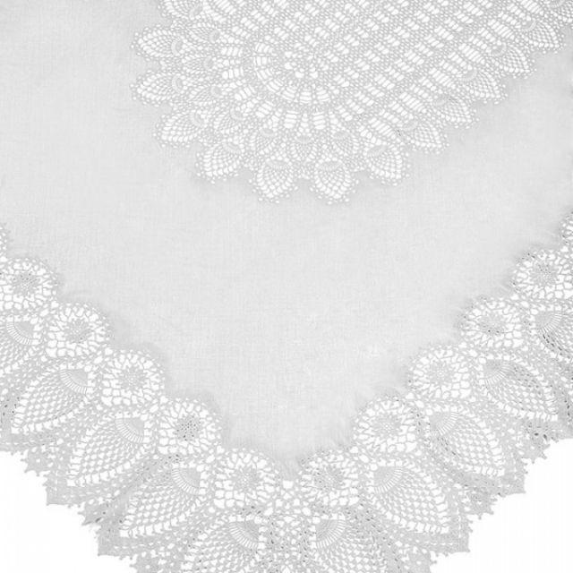 fiorirà un giardino TOVAGLIA PIZZO Bianco 150 x 264 cm