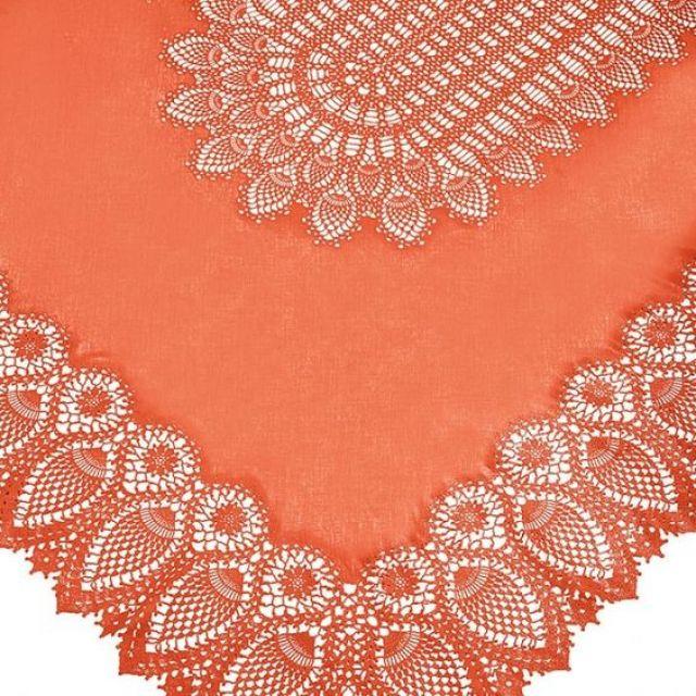 fiorirà un giardino TOVAGLIA PIZZO Arancio 150 x 264 cm