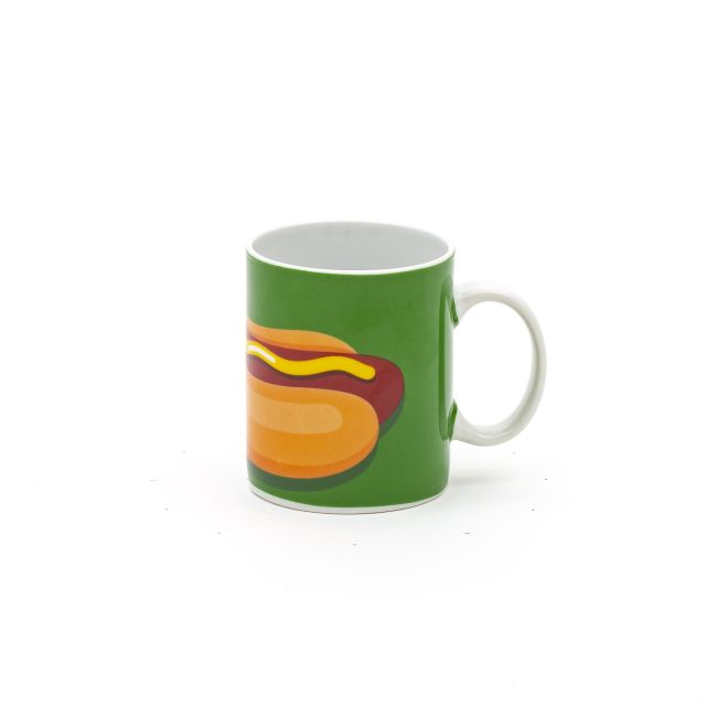 TAZZA IN PORCELLANA SELETTI STUDIO JOB - HOT DOG