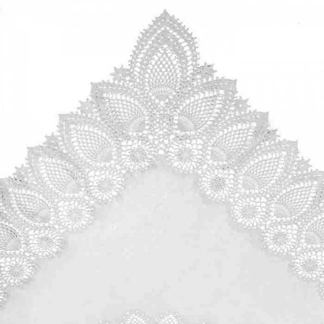 fiorirà un giardino TOVAGLIA PIZZO Bianco 137 x 182 cm