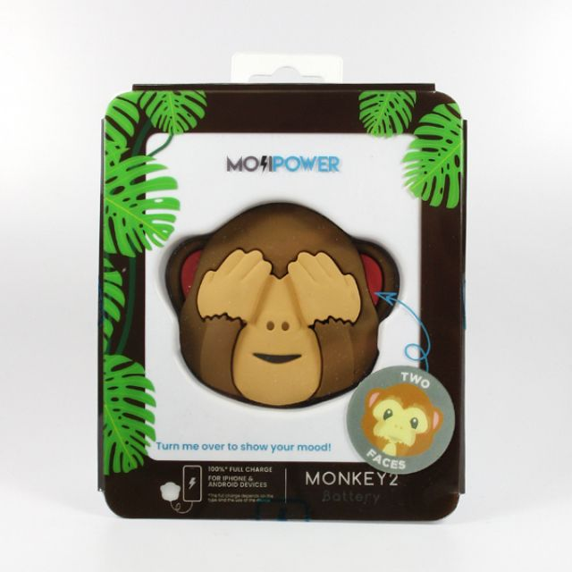 Mojipower POWER BANK MONKEY DOUBLE FACE