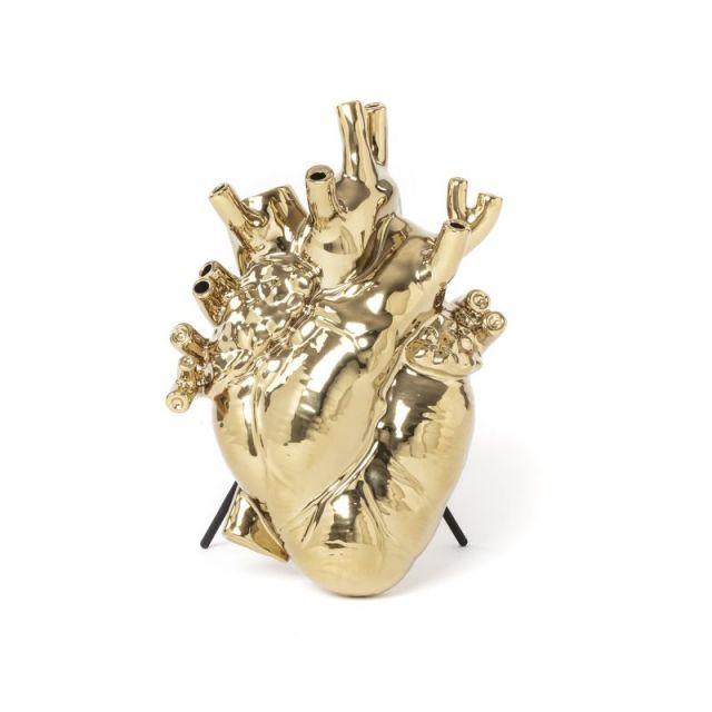 Seletti VASO IN PORCELLANA LOVE IN BLOOM GOLD