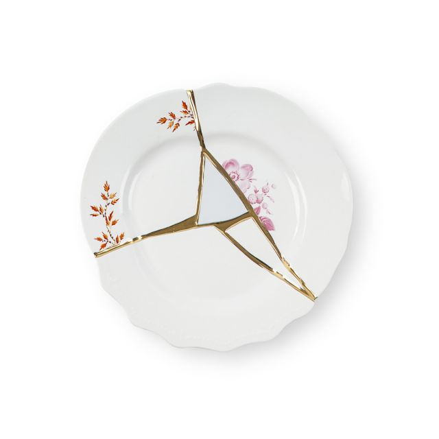 Seletti KINTSUGI-1 Piatto Frutta in porcellana
