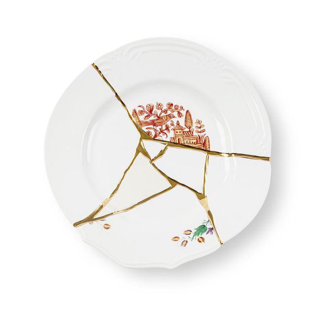Seletti KINTSUGI-1 Piatto Piano in porcellana