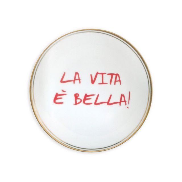 Bitossi PIATTO DESSERT LA VITA E' BELLA