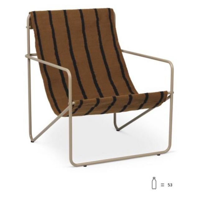 DESERT LOUNGE CHAIR Cashmere/Stripes