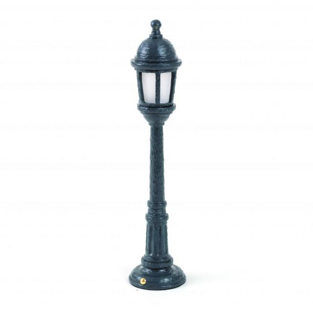 LAMPADA DA TAVOLO IN RESINA STREET LAMP NERA