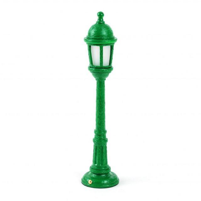 LAMPADA DA TAVOLO IN RESINA STREET LAMP VERDE