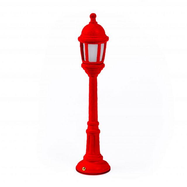 LAMPADA DA TAVOLO IN RESINA STREET LAMP ROSSA