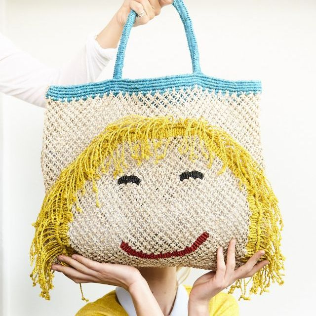 BORSA in  JUTA MISS MOLLY Natural with Blue, Yellow & Red