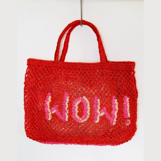 BORSA in  JUTA WOW Red with Pink
