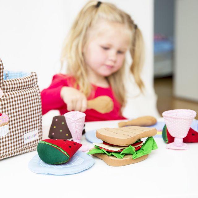 oskar ellen cestino da picnic in tessuto forme e colori. Black Bedroom Furniture Sets. Home Design Ideas
