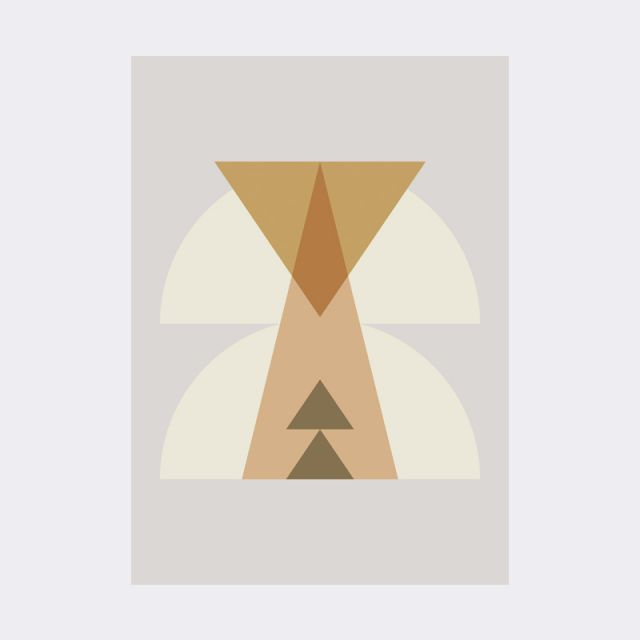 Ferm Living POSTER disegno tribale INKA