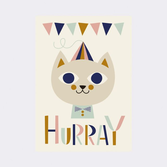 Ferm Living POSTER A3 Mr Cat