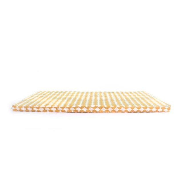 Nobodinoz MATERASSO SAINT-TROPEZ Rombi miele 120x60cm