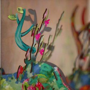 Miho Trofeo Cervo SELF-PORTRAIT dim 37 x 30 x 40 cm