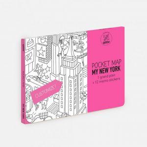 OMY Design MAPPA da colorare NEW YORK dim. 52 x 38 cm