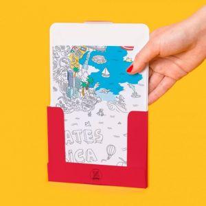 OMY Design MAPPA da colorare USA dim. 52 x 38 cm