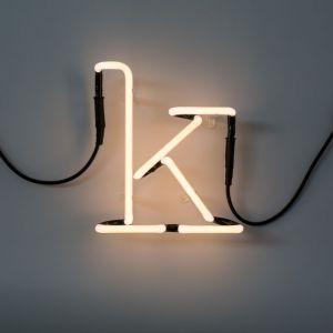 Seletti LETTERA LUMINOSA DA PARETE Neon Art lettera k