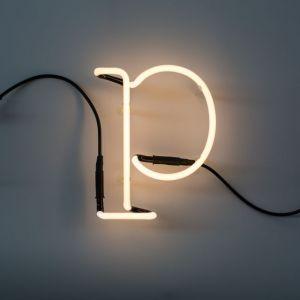 Seletti LETTERA LUMINOSA DA PARETE Neon Art lettera p