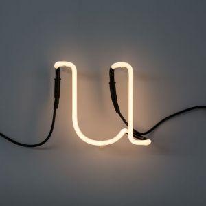 Seletti LETTERA LUMINOSA DA PARETE Neon Art lettera u