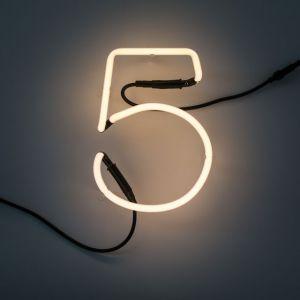 Seletti NUMERO LUMINOSO DA PARETE Neon Art - 5