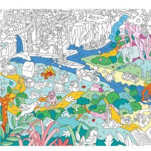 OMY Design POSTER GIGANTE Jungle da colorare 70 x 100 cm