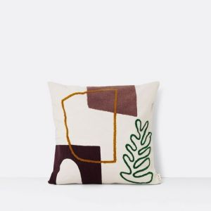 Ferm Living CUSCINO MIRAGE LEAF 50 x 50 cm