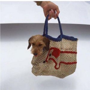 The Jacksons BORSA in TELA DI JUTA - DOG BAG