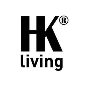 HK Living SPECCHIO CON SUPPORTO IN LEGNO NATURALE