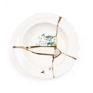 Seletti KINTSUGI-1 Piatto Fondo in porcellana
