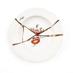 Seletti KINTSUGI-2 Piatto Fondo in porcellana