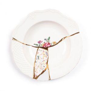 Seletti KINTSUGI-3 Piatto Fondo in porcellana