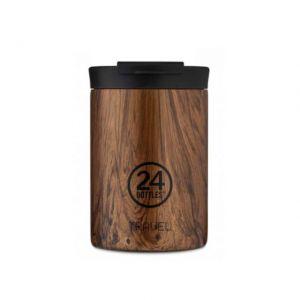 24 Bottles TRAVEL TUMBLER SEQUOIA WOOD 350 ml
