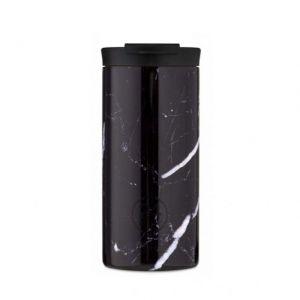 24 Bottles TRAVEL TUMBLER BLACK MARBLE 600 ml