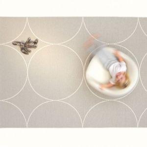 Pappelina TAPPETO BOO DARK LINEN-VANILLA 70 x 100 cm