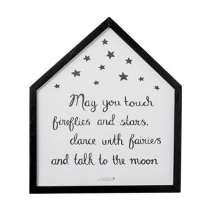 Bloomingville  QUADRO text: may you touch......40 x h46 cm