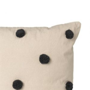 CUSCINO DOT TUFTED SAND-BLACK