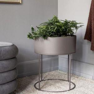 PLANT BOX ROUND Grigio caldo