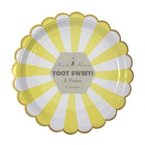 Meri Meri TOOT SWEET Piatti party L Set 8 pz diam 23 cm