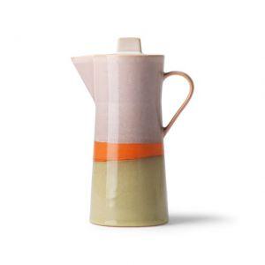 CAFFETTIERA IN CERMICA STILE ANNI '70