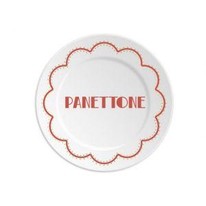 PIATTO XMAS PANETTONE RED