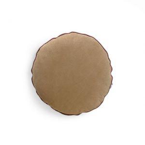 CUSCINO ROTONDO IN VELLUTO A COSTE diam. 40 cm