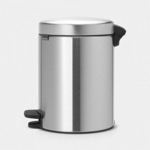 PATTUMIERA A PEDALE NEWICON 5 L MATT STEEL