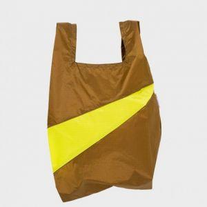 SHOPPING BAG MAKE e FLUO YELLOW