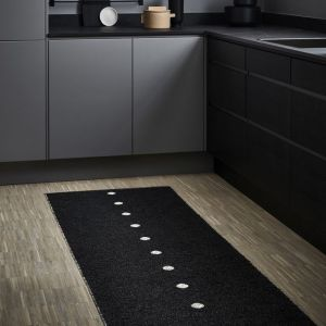 TAPPETO PEG BLACK - LINEN 70 x 140 cm