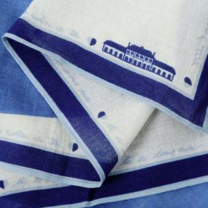 BANDANA IN COTONE COLORE INK-BLUE