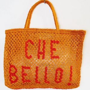 BORSA in  JUTA CHE BELLO Orange with red