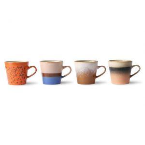 TAZZE DA CAFFE' AMERICANO IN CERAMICA Set di 4