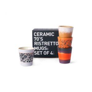 TAZZE DA CAFFE' IN CERAMICA Set di 4